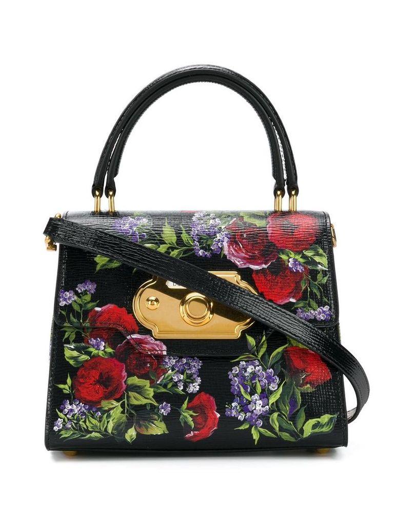 Dolce & Gabbana floral print tote bag - Black