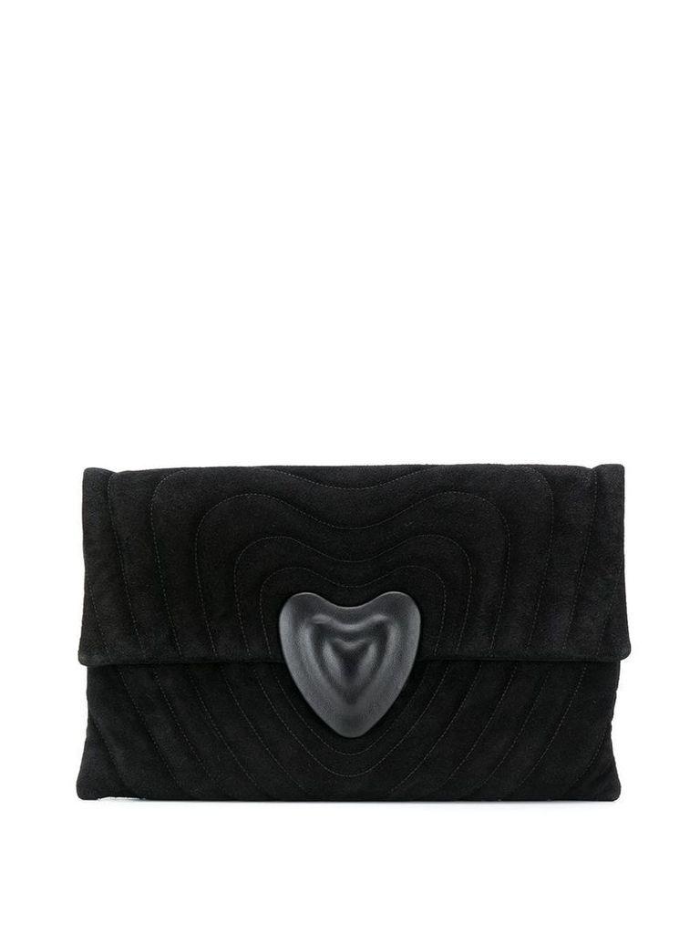 Escada embossed heart clutch - Black