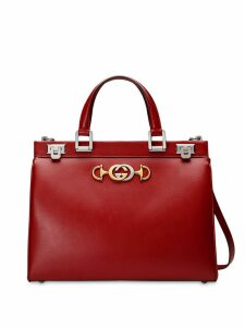 Gucci Gucci Zumi smooth leather medium top handle bag - Red