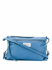 Maison Margiela zip top shoulder bag - Blue