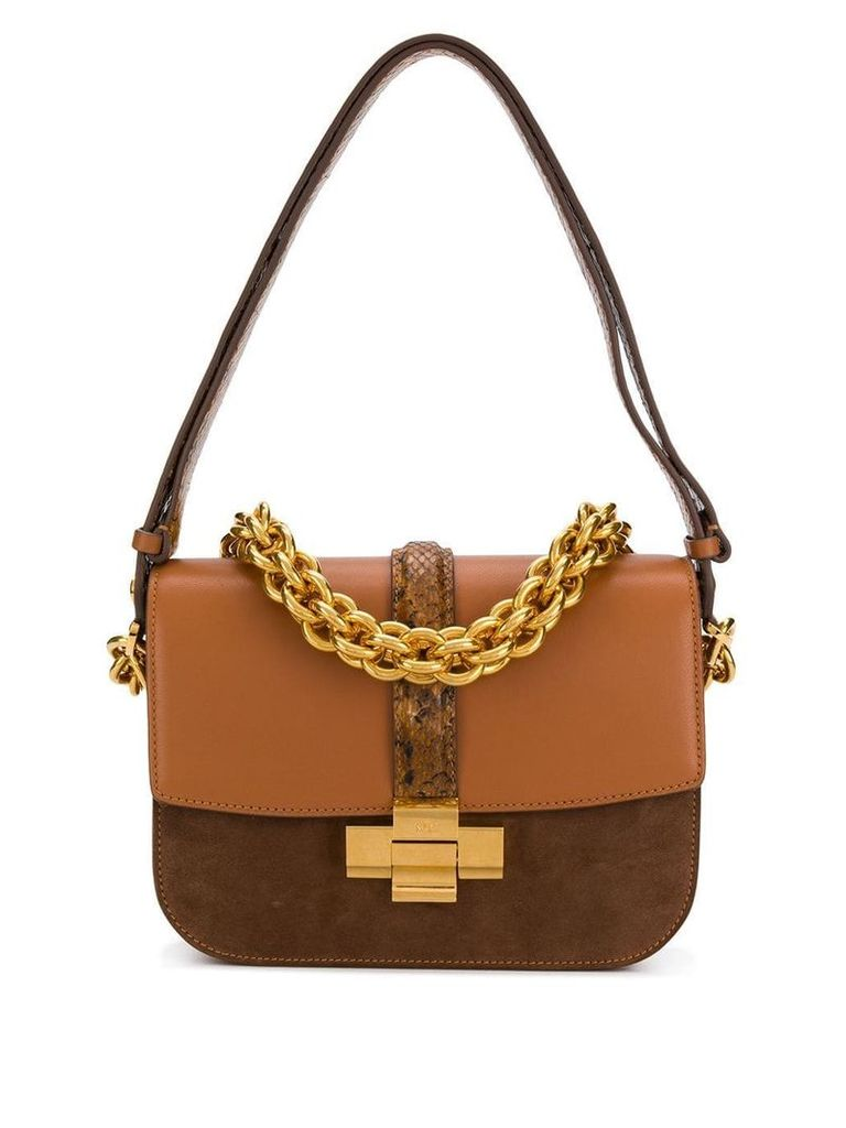 Nº21 chain shoulder bag - Brown