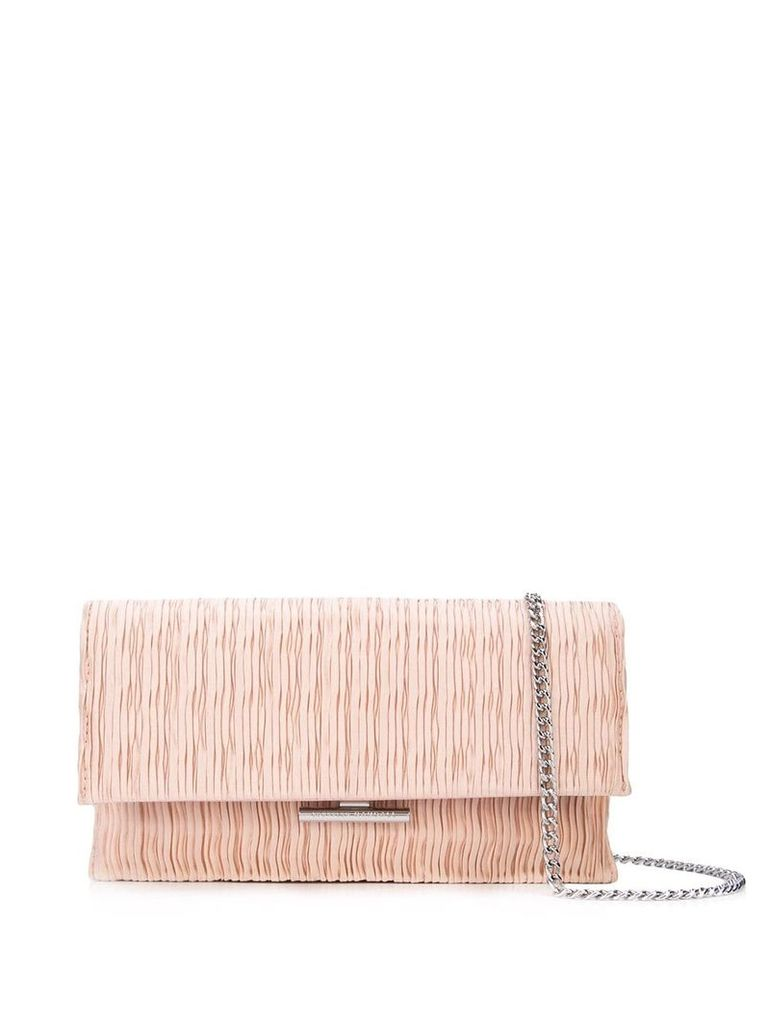 Loeffler Randall pleated clutch bag - Pink
