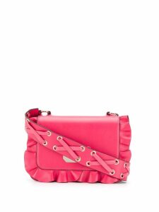 Red Valentino Rock ruffle crossbody bag - Pink