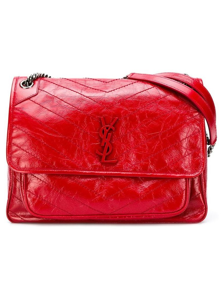 Saint Laurent Small Collège Monogram bag - Red