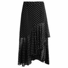 Jovonna  Musubi black skirt with white polka dots  women's Skirt in Black