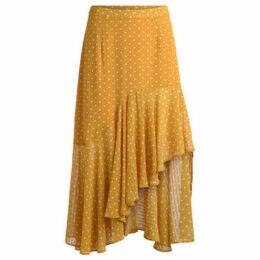 Jovonna  Musubi ochre skirt with white polka dots  women's Skirt in Yellow