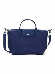 Leather Trim Convertible Tote