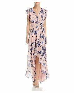 Eliza J Floral Faux-Wrap Maxi Dress