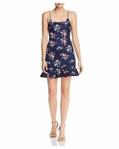 Aqua Floral Flounce-Hem Mini Dress - 100% Exclusive