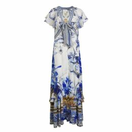 CAMILLA Front Tie Maxi Dress