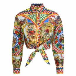 Dolce and Gabbana Sicilian Caretto Tie Shirt