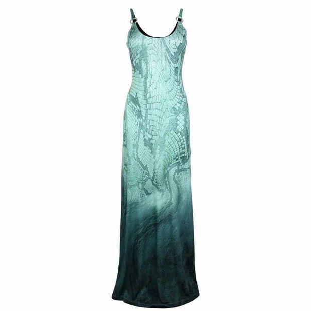 JUST CAVALLI Snake Skin Print Maxi Dress