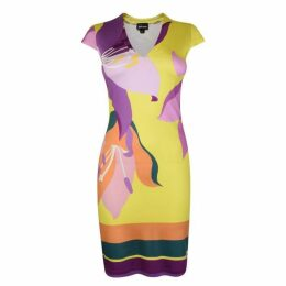 Just Cavalli V Neck Bodycon Dress