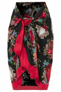 Dolce & Gabbana - Floral-print Cotton-voile Pareo - Red