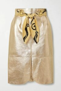 Alessandra Rich - Cable-knit Cotton-blend Midi Skirt - Navy