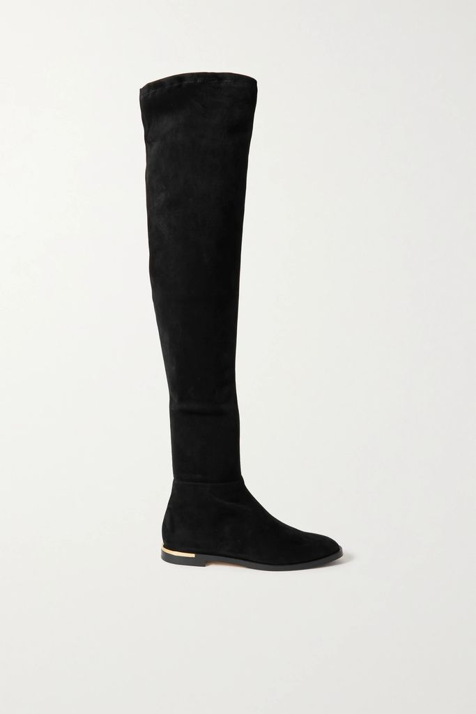 Burberry - Printed Silk-paneled Cotton-gabardine Trench Coat - Beige