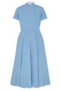 Emilia Wickstead - Camila Wool-crepe Midi Dress - Light blue