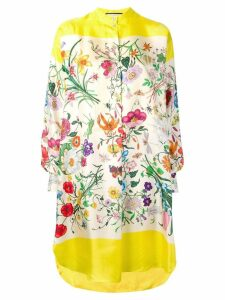 Gucci Flora shirt dress - Yellow