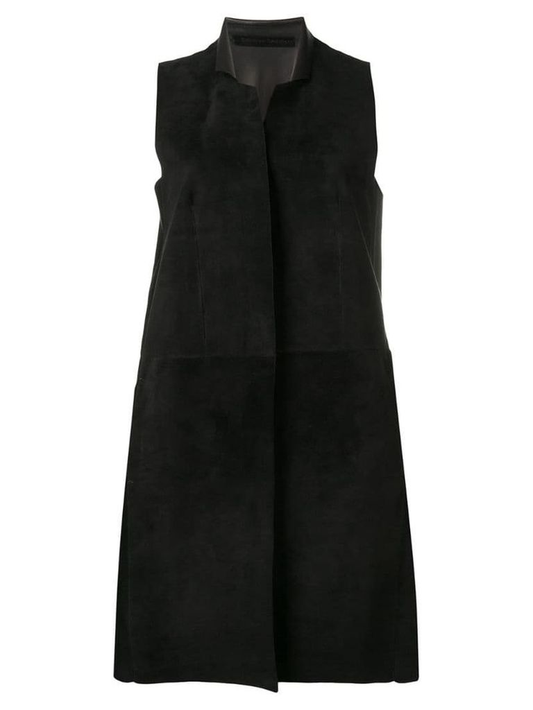 Salvatore Santoro sleeveless midi coat - Black