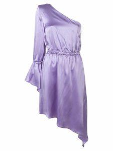 Federica Tosi satin one-shoulder dress - Purple
