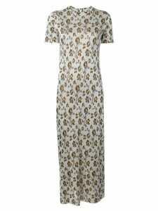 Paco Rabanne embroidered floral dress - Silver