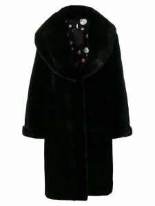 Liska Judith fur coat - Black