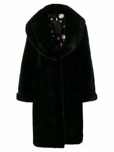 Liska Judith fur coat - Black