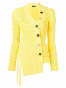 Eudon Choi asymmetric cardigan - Yellow