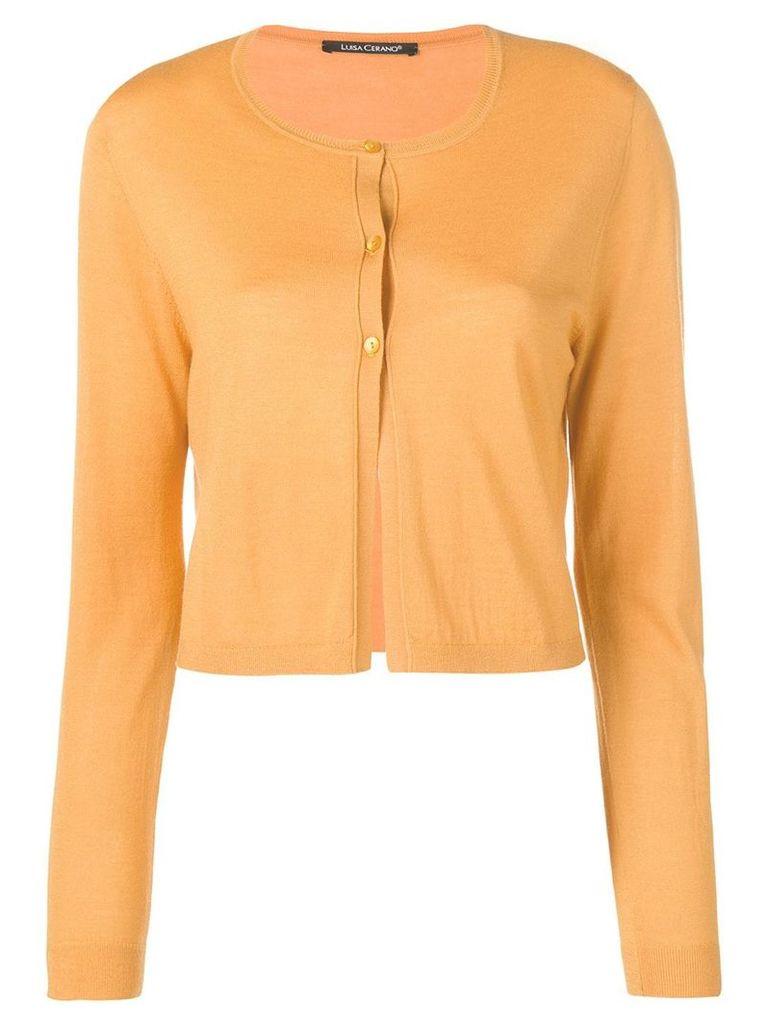 Luisa Cerano knitted cardigan - Yellow