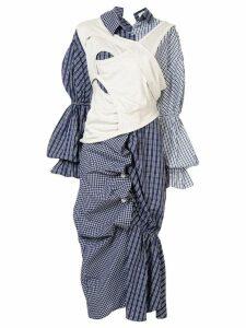 Enföld check shirt dress - Blue