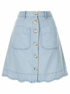 Sea scalloped skirt - Blue