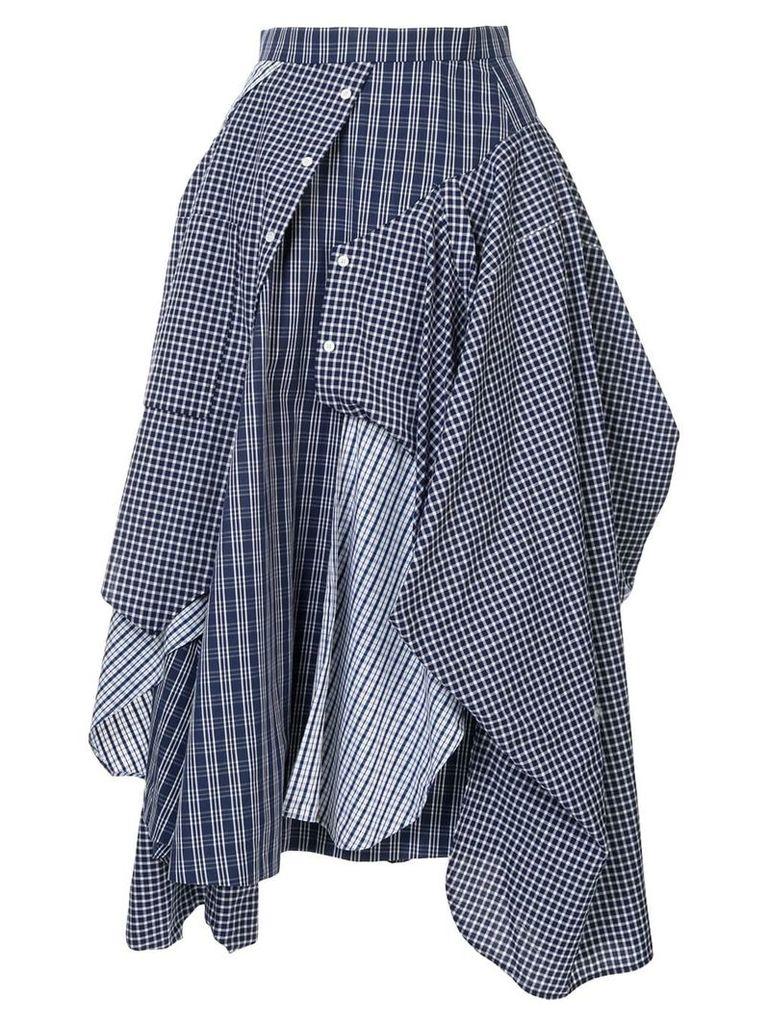Enföld deconstructed shirt-skirt - Blue