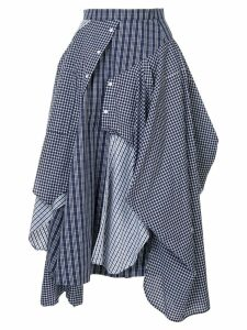 Enföld deconstructed shirt-skirt - Blue