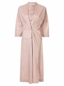 Sea fusion coat dress - Pink