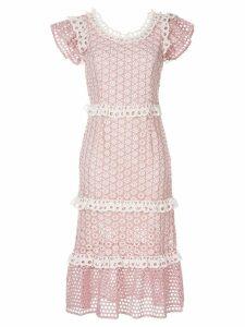 Sea lace trim dress - Pink