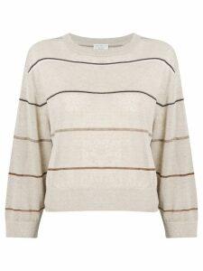 Brunello Cucinelli striped sweatshirt - Neutrals