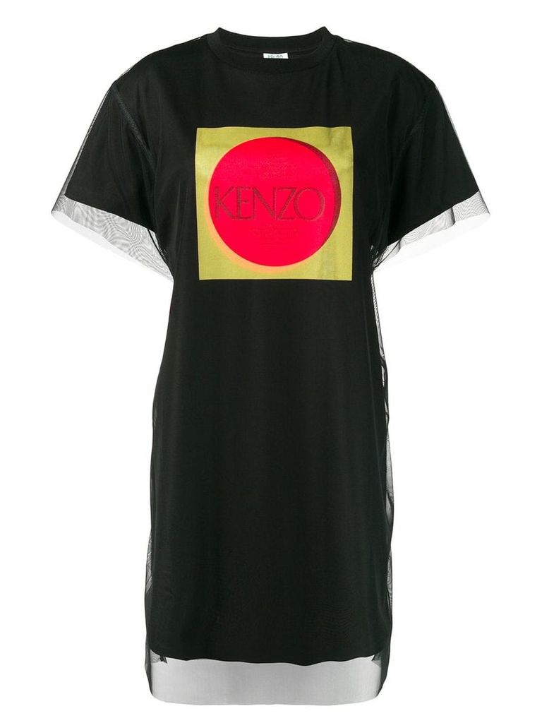 Kenzo layered tulle T-shirt dress - Black
