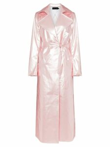 Michael Lo Sordo Belted maxi-length trench coat - Pink