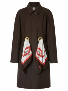 Burberry scarf detail car coat - Brown