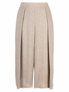 Dusan loose-legged trousers - Brown