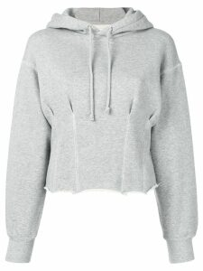 Current/Elliott pintuck hoodie - Grey
