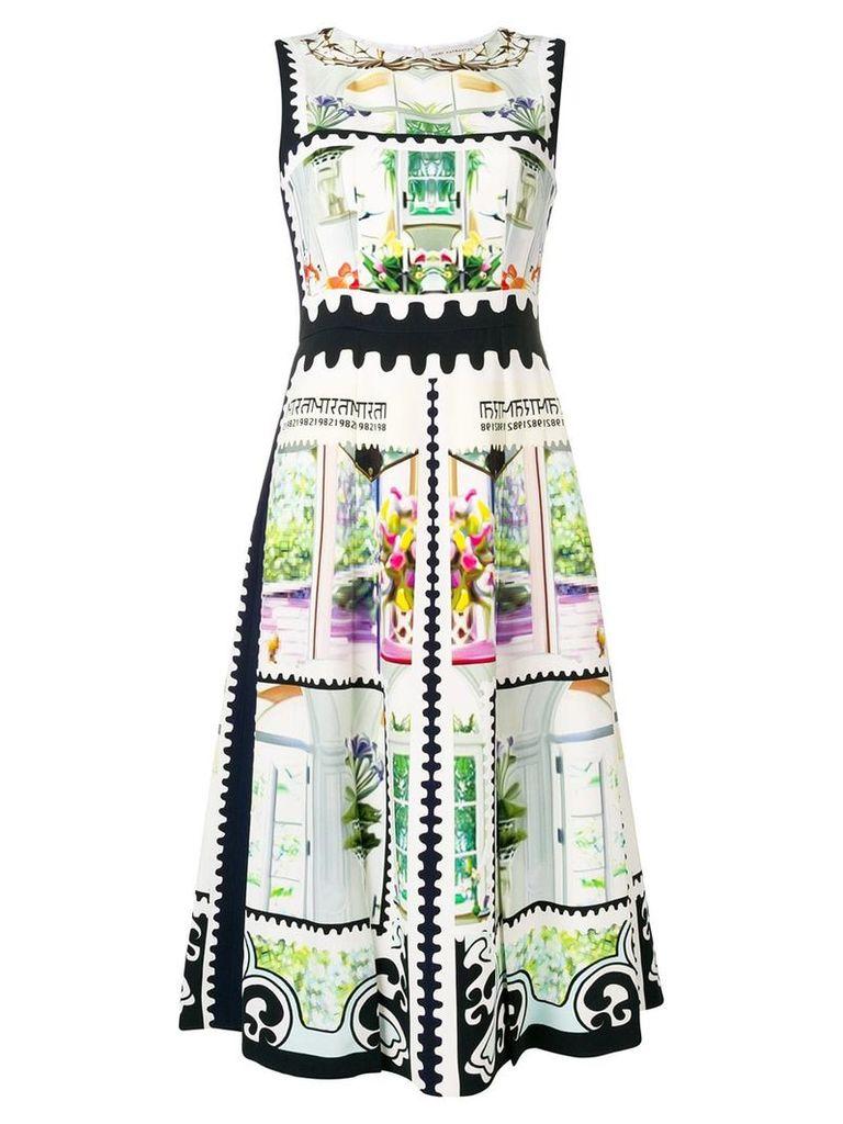 Mary Katrantzou stamp print dress - White
