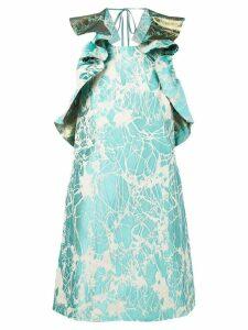 Ultràchic marble-jacquard dress - Blue