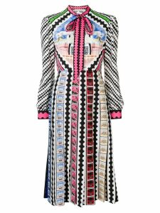 Mary Katrantzou printed necktie dress - Black