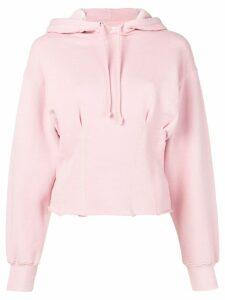 Current/Elliott pintuck hoodie - Pink