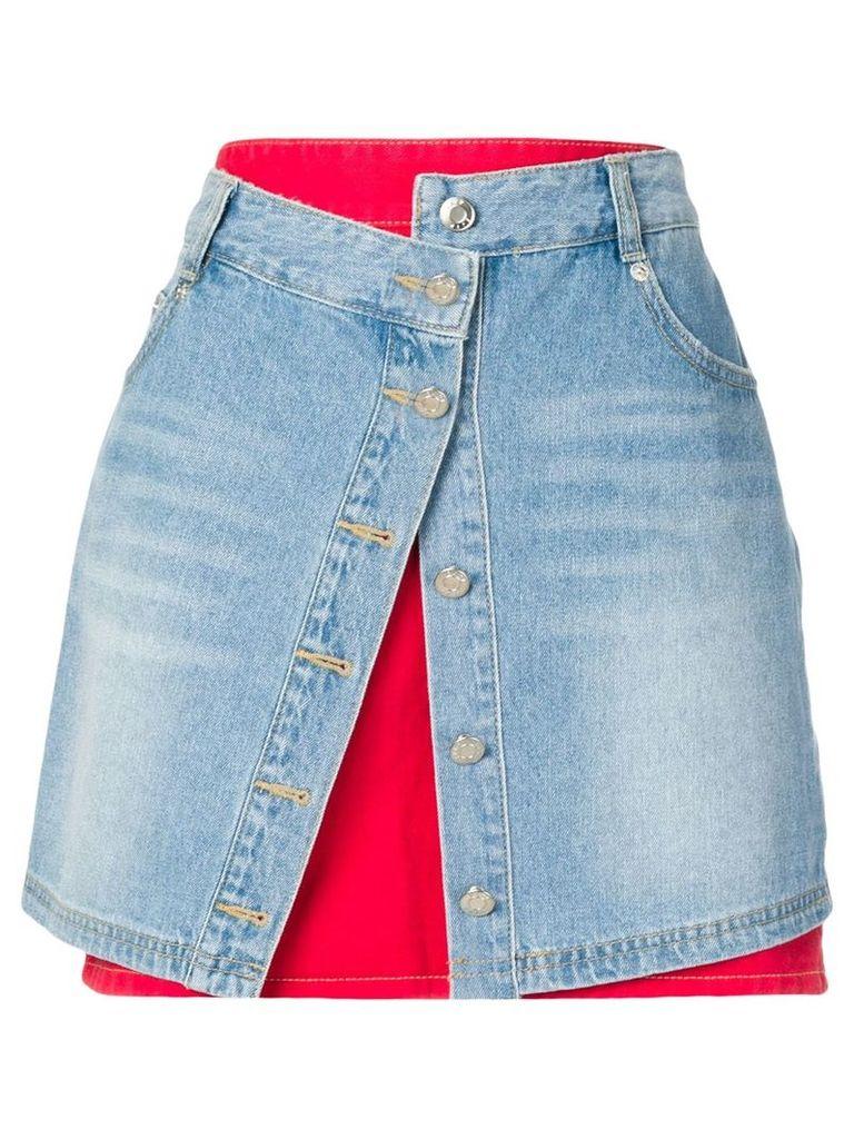 SJYP layered denim skirt - Blue