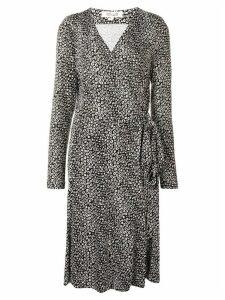 Dvf Diane Von Furstenberg printed wrap-front midi dress - Black