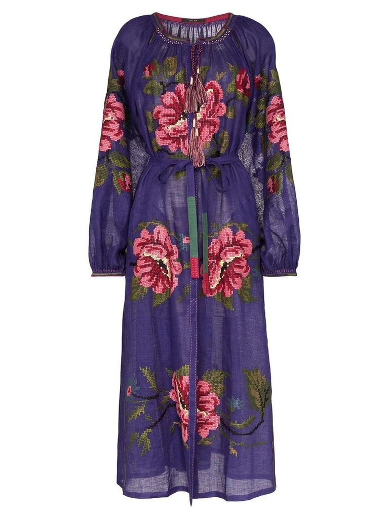Vita Kin Gypsy Queen linen maxi dress - Purple