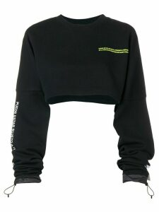 Marcelo Burlon County Of Milan cropped sweatshirt - Black