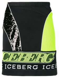 Iceberg sequin embroidered skirt - Black